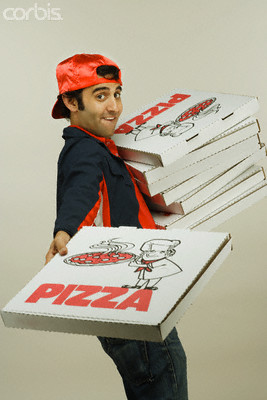 Oh, you brought me a pizza! Let's fuck!
